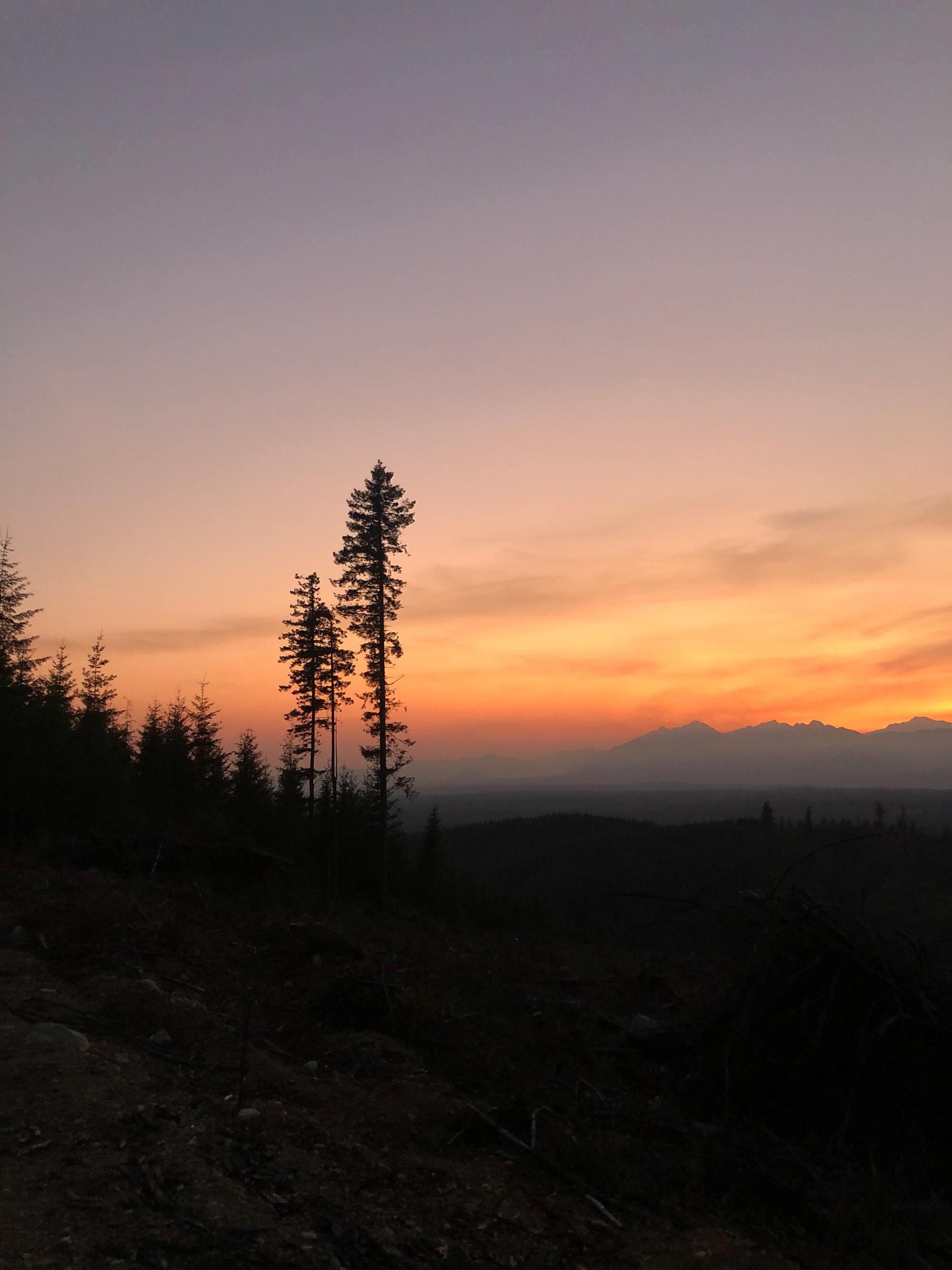 Green Mountain, WA, hiking, sunsets