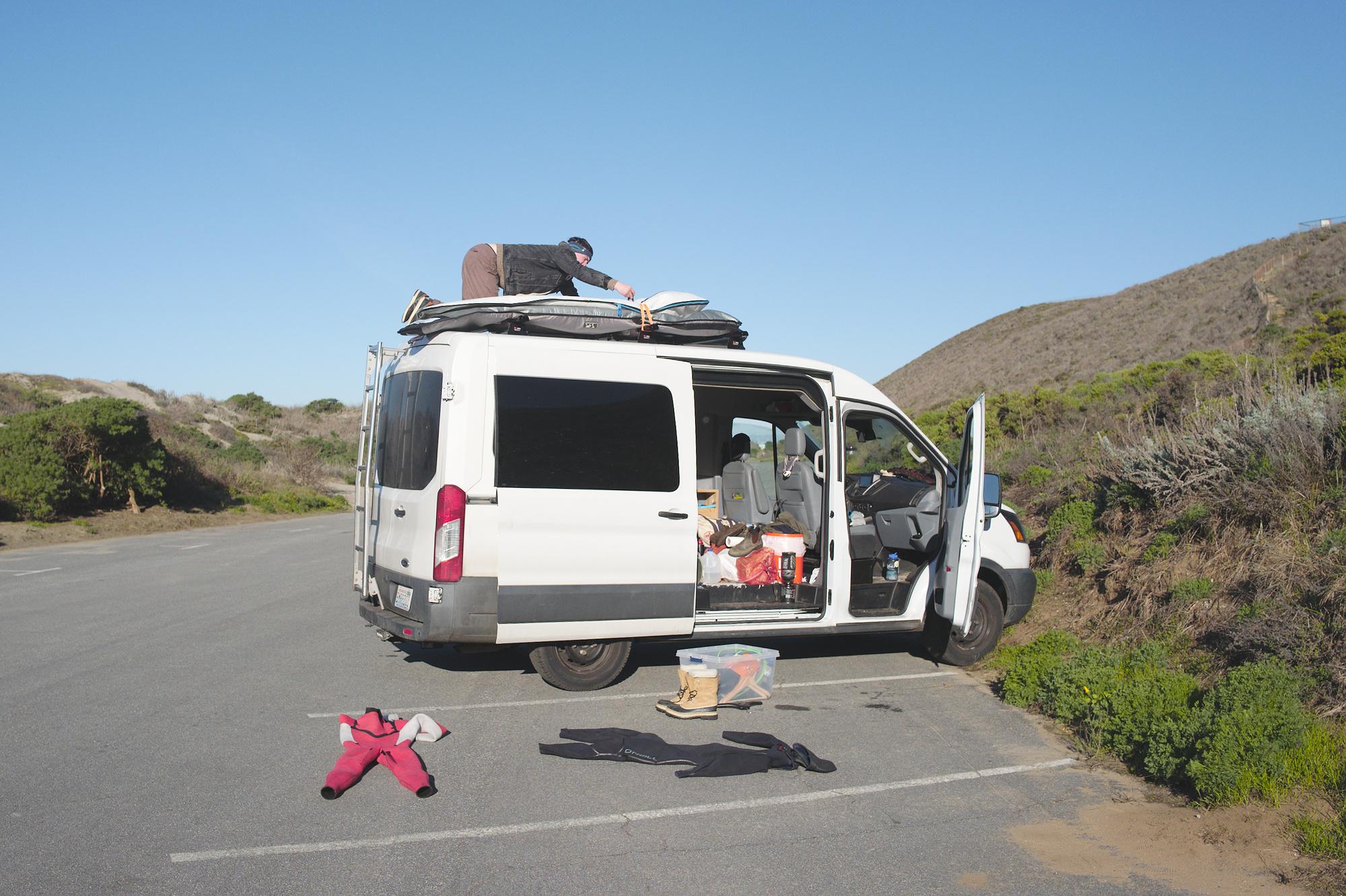 California, cars, surfing