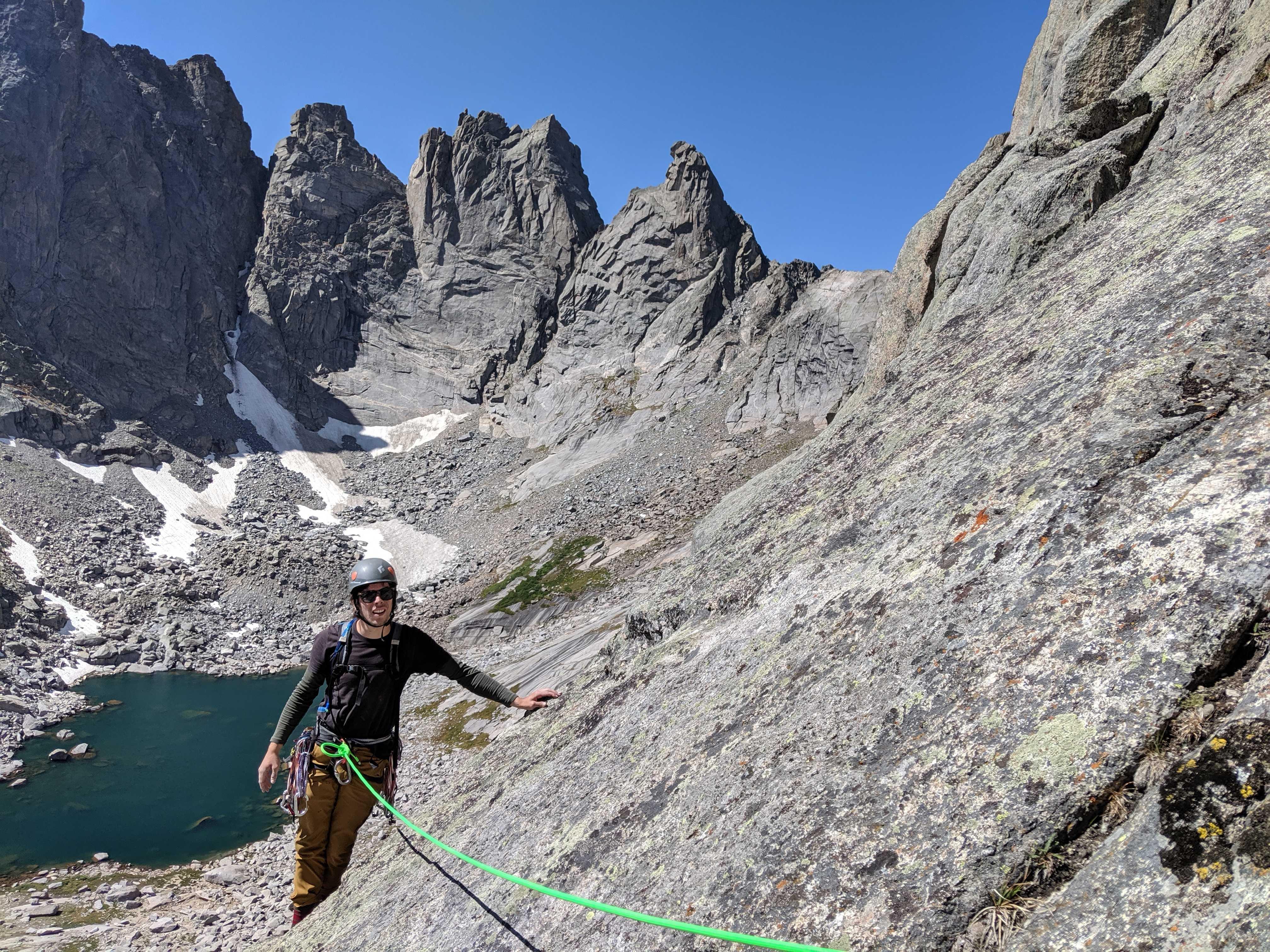 Wind River Range, WY, self portrait, climbing