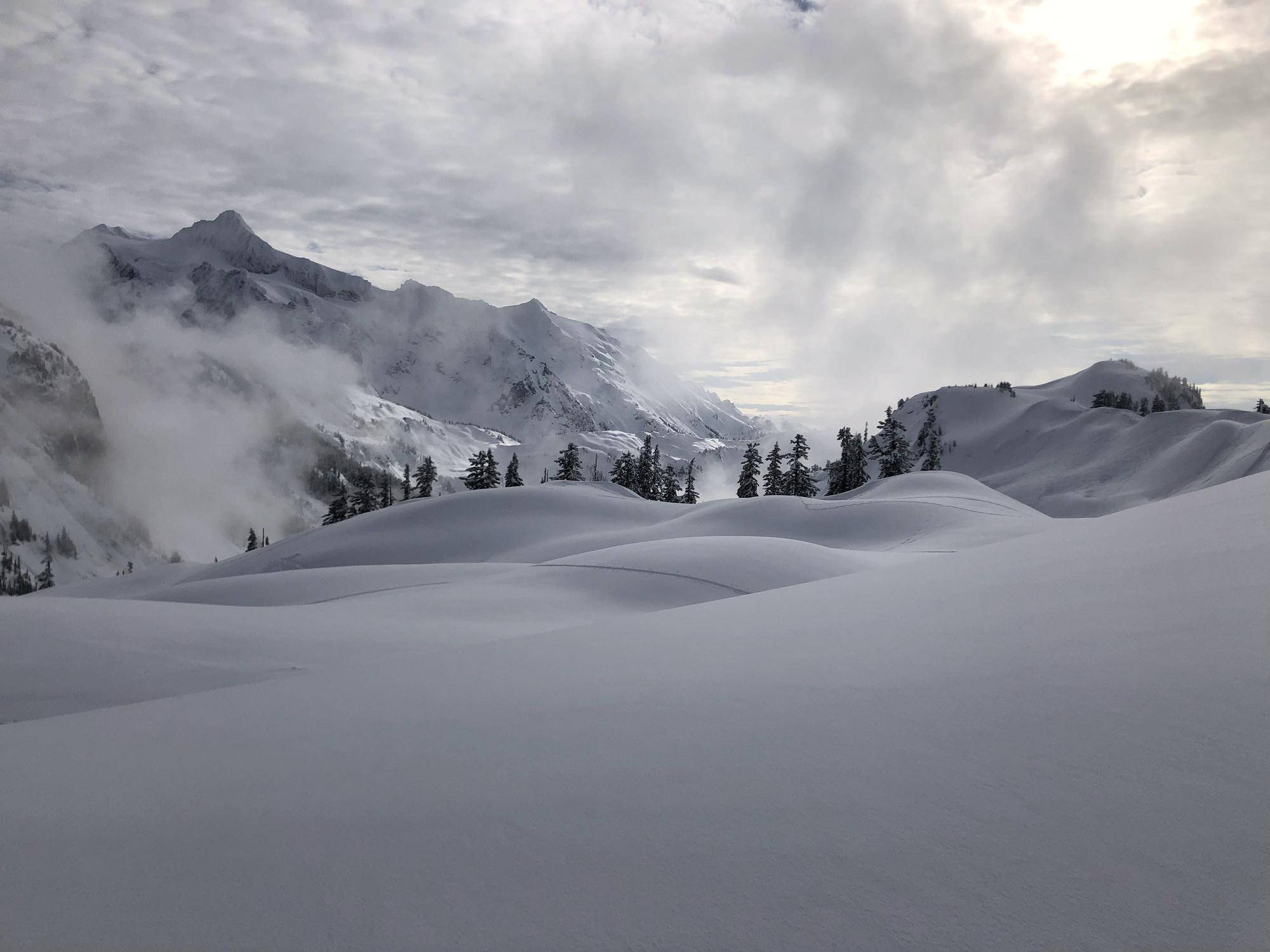 Mt. Baker, WA, landscapes, snowboarding