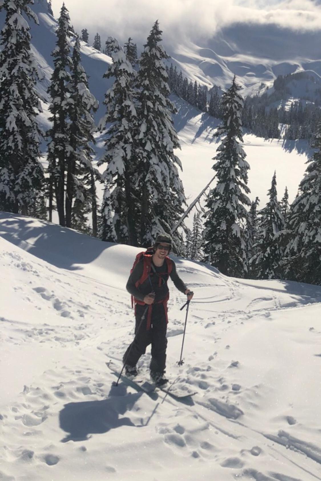 Mt. Baker, WA, snowboarding, self portrait