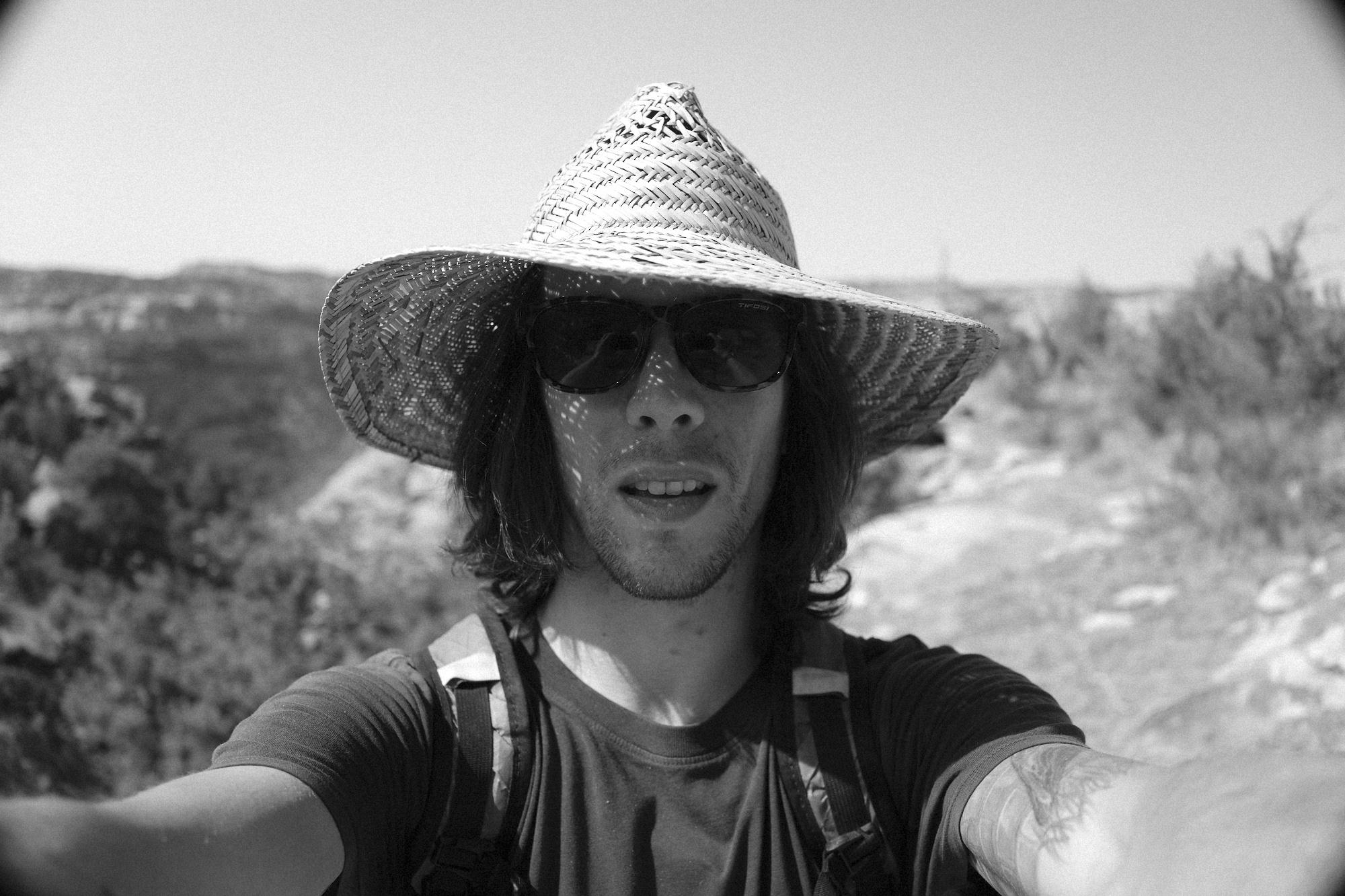 Colorado, self portrait, hiking, b&w